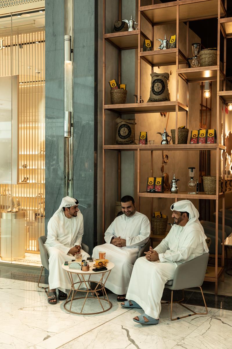 Lunchen in cafe Dubai